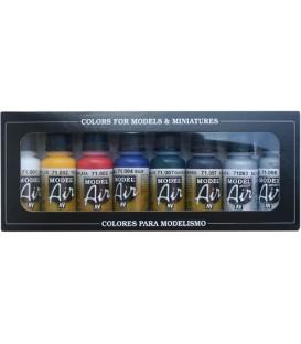 Set Vallejo Model Air 8 u. (17 ml.) Colores Básicos