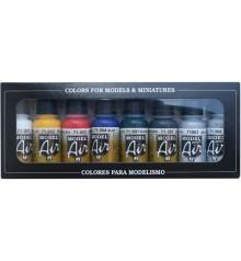 Set Vallejo Model Air 8 u. (17 ml.) Basic Colors