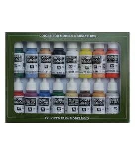 Set Vallejo Model Color 16 u. (17 ml.) Colores Basico U.S.A