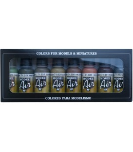Set Vallejo Model Air 8 u. (17 ml.) WWII German Colors