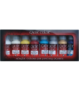 Set Vallejo Game Color 8 u. (17 ml.) Elfos.