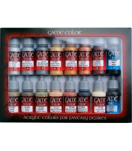 Set Vallejo Game Color 16 u. (17 ml.) Leather & Metal.