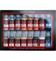 Set Vallejo Game Color 16 u. (17 ml.) Cuir i Metall.