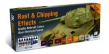 Set Vallejo Model Air (4) 8 u. (17 ml.) Rust & Chipping Effects.