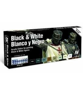Set Vallejo Blanco y Negros (Model Color).