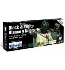 Set Vallejo Black & White (Model Color).
