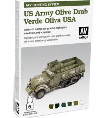 78.402 Set AFV US Army Olive Drab.