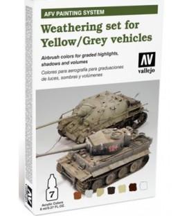 78.405 Set AFV Envelliment per a Vehicles color Ocre/Groc i Gris