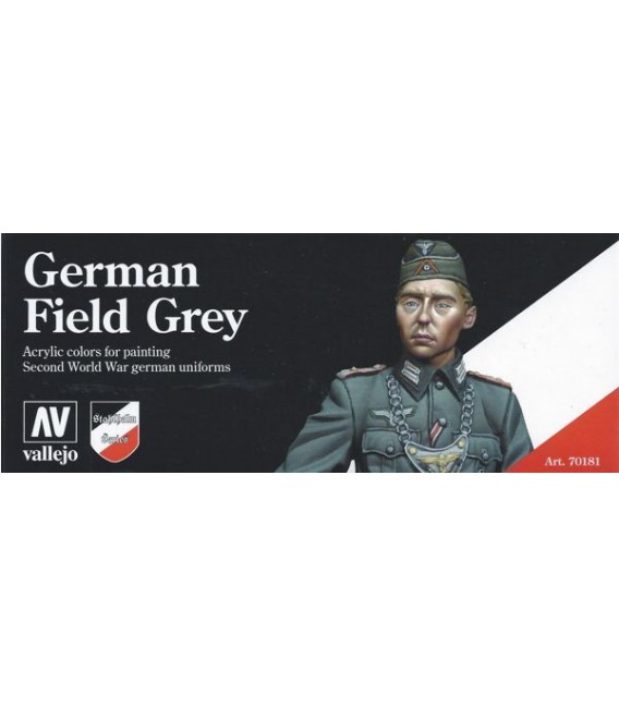 Set Vallejo Model Color 8 u. (17 ml.) German Field Grey