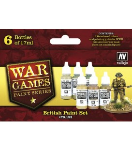 Set Vallejo WWII Wargames 6 u. (17 ml.) British Paint.
