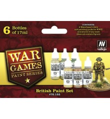 Set Vallejo WWII Wargames 6 u. (17 ml.) British Paint.