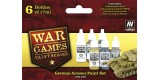 Set Vallejo WWII Wargames 6 u. (17 ml.) German Armour