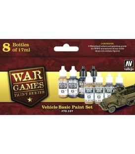 Set Vallejo WWII Wargames 8 u. (17 ml.) Vehicle Basic