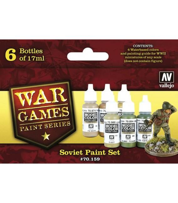 Set Vallejo WWII Wargames 6 u. (17 ml.) Soviet