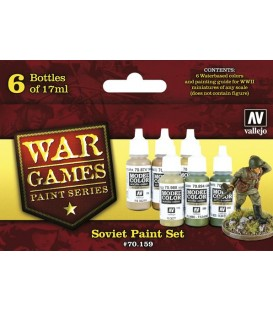 Set Vallejo WWII Wargames 6 u. (17 ml.) Soviet
