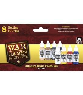 Set Vallejo WWII Wargames 8 u. (17 ml.) Infantry Basic