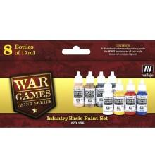 Set Vallejo WWII Wargames 8 u. (17 ml.) Infantry Basic