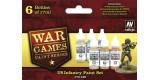 Set Vallejo WWII Wargames 6 u. (17 ml.) US Infantry