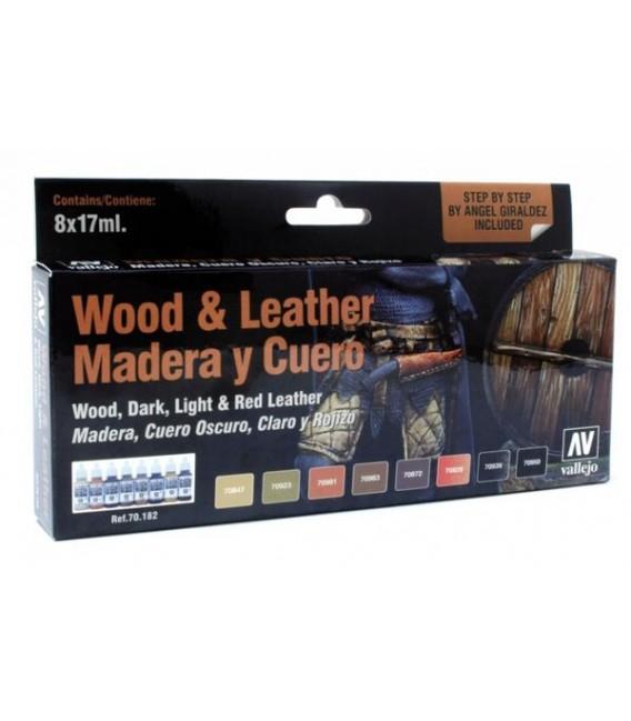 Set Vallejo Wood & Leather (Model Color).