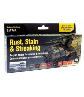 Set Vallejo Staining, Rust & Streaking (Model Color).