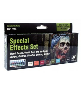 Set Vallejo Game Color 8 u. (17 ml.) Special Effects.