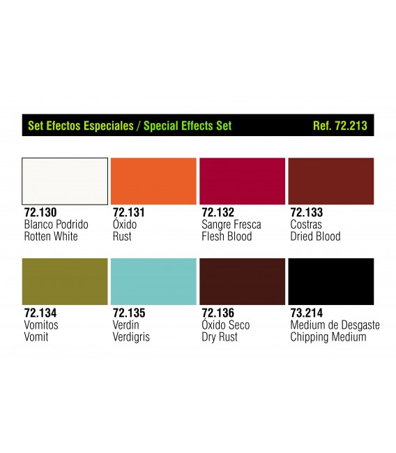 Set Vallejo Game Color 8 u. (17 ml.) Efectos Especiales.