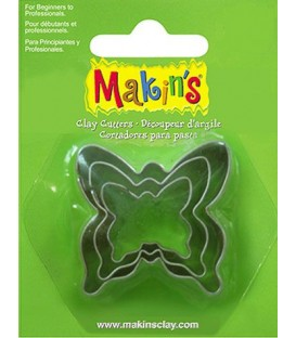36009 Mariposas Set de 3 cortadores Makins
