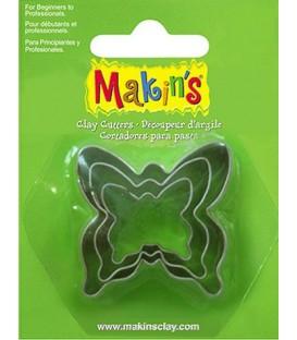36009 Papallones Set de 3 talladors Makins