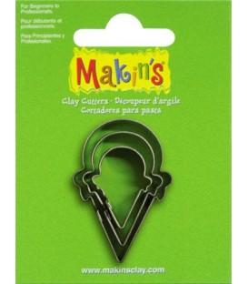 36021 Gelats Set de 3 talladors Makins