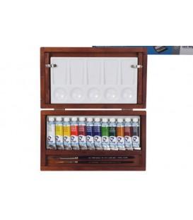 Caixa Aquarel.la Van Gogh fusta 12 tubs