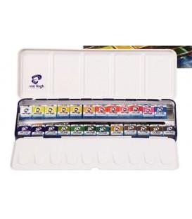 Caixa Aquarel.la Van Gogh set caixa meta-lica 24 pastilles