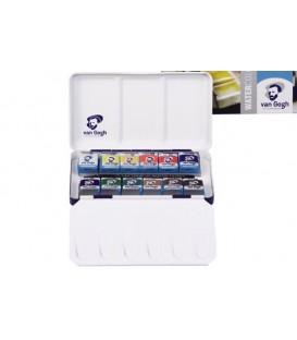 Caixa Aquarel.la Van Gogh set caixa metal-lica 12 pastilles