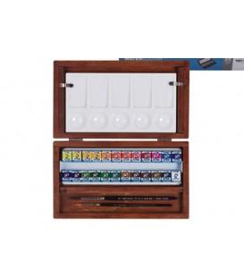 Caixa Aquarel.la Van Gogh fusta 24 pastilles