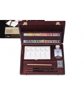 Caja acuarela madera Rembrandt Professional 28 pastillas