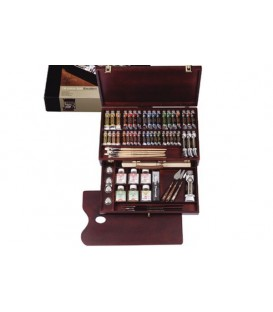 Oil paint color set Rembrandt Excellent wood 41 tubes