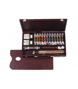 Oil paint color set Rembrandt Professional wood 13 tubes