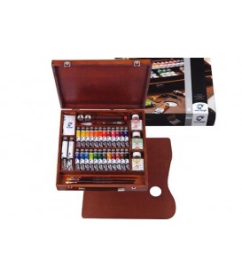 Oil paint color set Van Gogh Expert wood 26 tubes