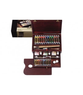 Oil paint color set Rembrandt Master wood 24 tubes