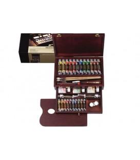 Oil paint color set Rembrandt Master wood 24 tubes