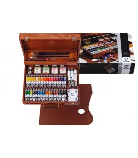 Oil paint color set Van Gogh Superior wood 34 tubes