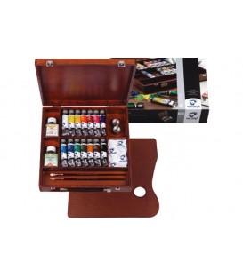 Oil paint color set Van Gogh Inspiration wood 14 tubes