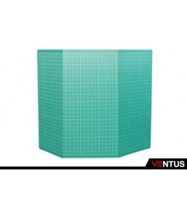 4) Placa de corte A3 dobrada em 3 partes