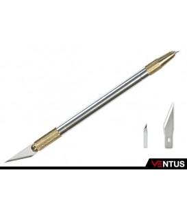 b) Couteaux à double pointe