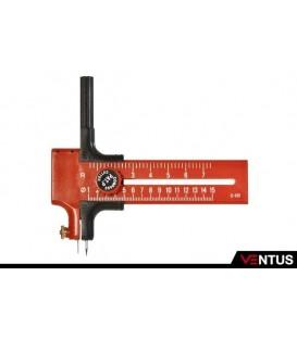 Cutter circolare con scala per diametri da 1 - 15 cm Ø