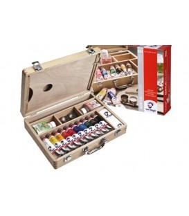 Boite peinture acrylique Van Gogh Basic wood 10 tubes