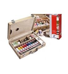 Caixa tinta acrílica Van Gogh Basic madeira 10 tubos