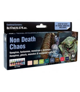 Set Vallejo Game Color 8 u. (17 ml.) Non Death Chaos. NEW!