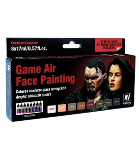 Set Vallejo Game Air 8 u. (17 ml.) Face Painting