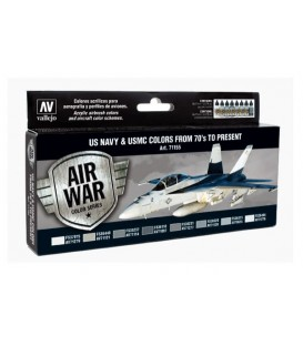 Set Vallejo Model Air 8 u. (17 ml.) US NAVY & USMC 70's/present