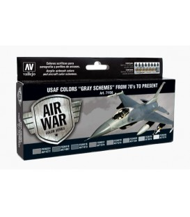 Set Vallejo Model Air 8 u. (17 ml.) USAF Gray Schemes 70/present